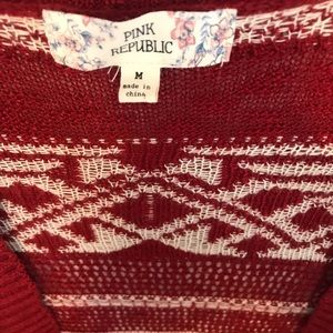 Pink Republic Sweaters - Red and cream cardigan